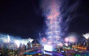 Бурдж-Халифа 2014 - новогодние фейерверки в Дубай