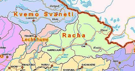 Лечхуми на карте Грузии