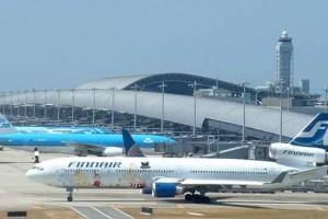Международный аэропорт в океане Кансай в Японии