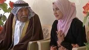 Свадьба в Ираке: невеста младше мужа на 70 лет