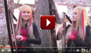 IRON MAIDEN – Fear of the Dark (Harp Twins) Camille and Kennerly